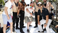 Matt Bomer, Channing Tatum, and Adam Rodriguez at LA Pride
