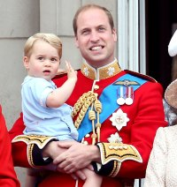 Prince George and Prince William during the Trooping the Colour