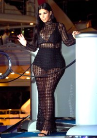 Kim Kardashian at a yacht party during the Cannes Lions Festiavl 2015.