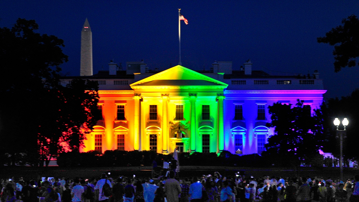 Image result for white house in rainbow
