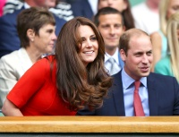 Kate Middleton and Prince William at day nine of the Wimbledon.
