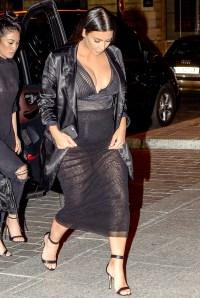 Pregnant Kim Kardashian dines at Ferdi restaurant in Paris, France