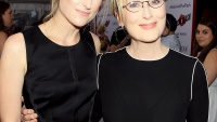 "Mamie Gummer and Meryl Streep at the premiere of ""RICKI AND THE FLASH"""