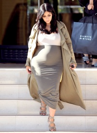 Pregnant Kim Kardashian leaves Barney's on August 10, 2015.