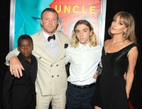 David, Guy Ritchie, Rocco and Jacqui Ainsley