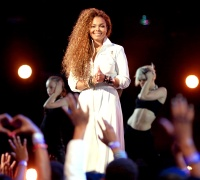 Janet Jackson onstage during the 2015 BET Awards on June 28.