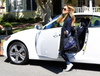 Christine Ouzounian gets in her new Lexus on August 12, 2015