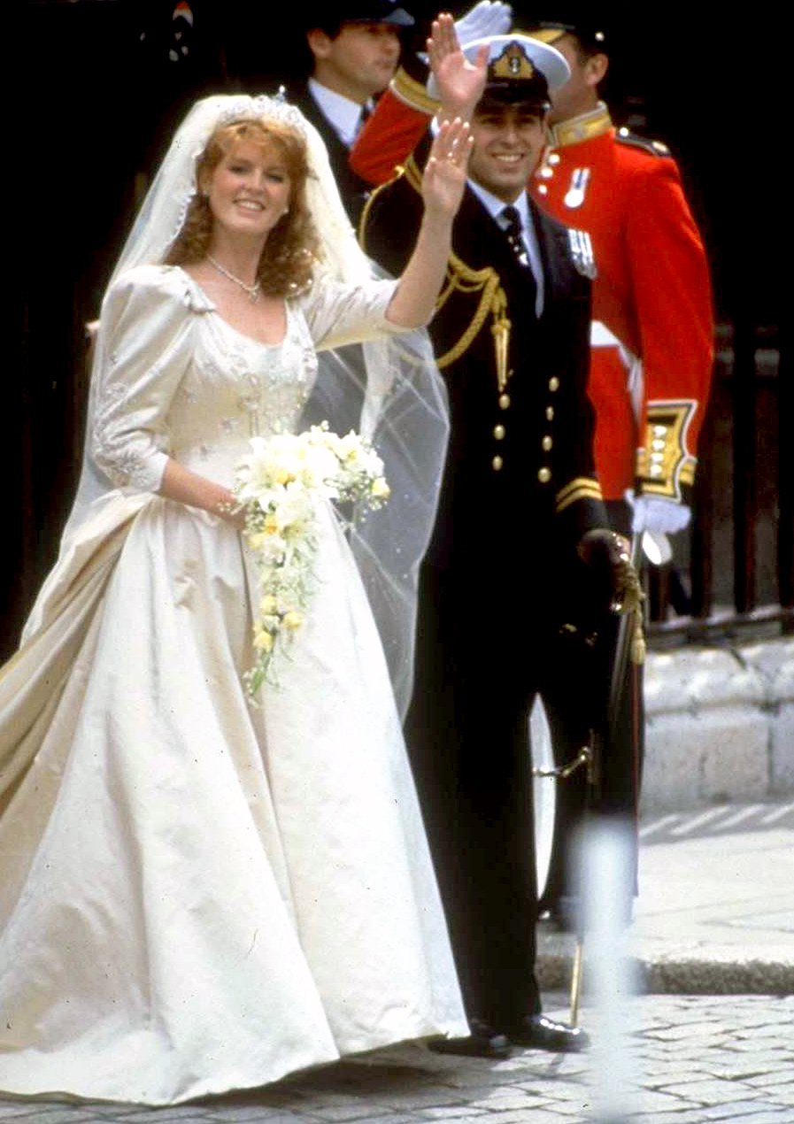 The most amazing royal wedding dresses ever us weekly duchess of york sarah ferguson junglespirit Image collections