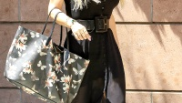Jessica Simpson has lunch with CaCe Cobb at Via Alloro on Aug. 28.