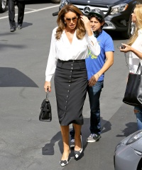 Caitlyn Jenner wears a business like outfit on September 1, 2015.
