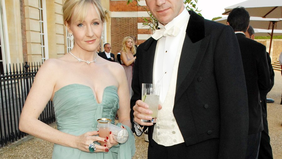 J.K. Rowling and Ralph Fiennes