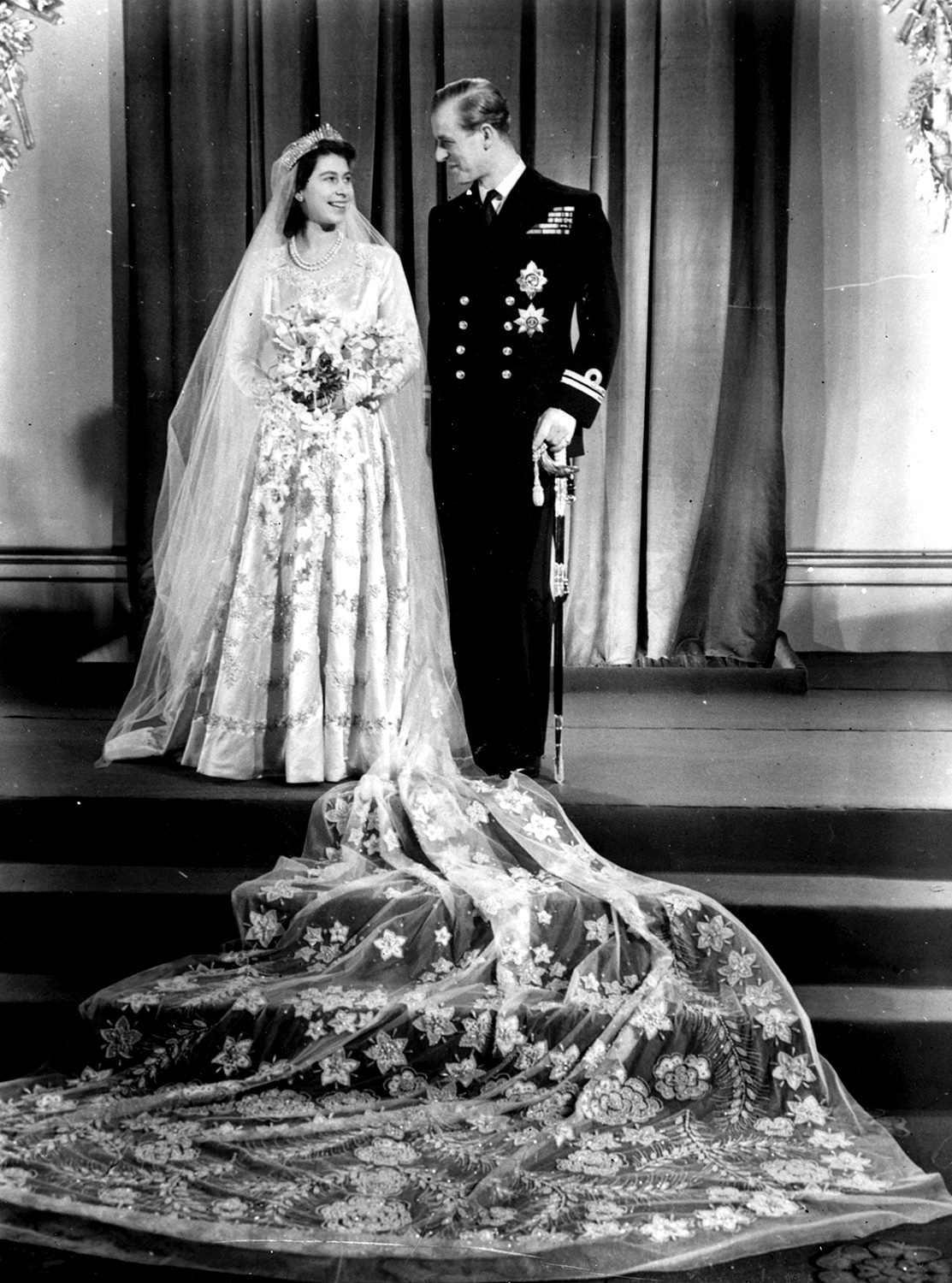 The most amazing royal wedding dresses ever us weekly queen elizabeth ii of england junglespirit Image collections