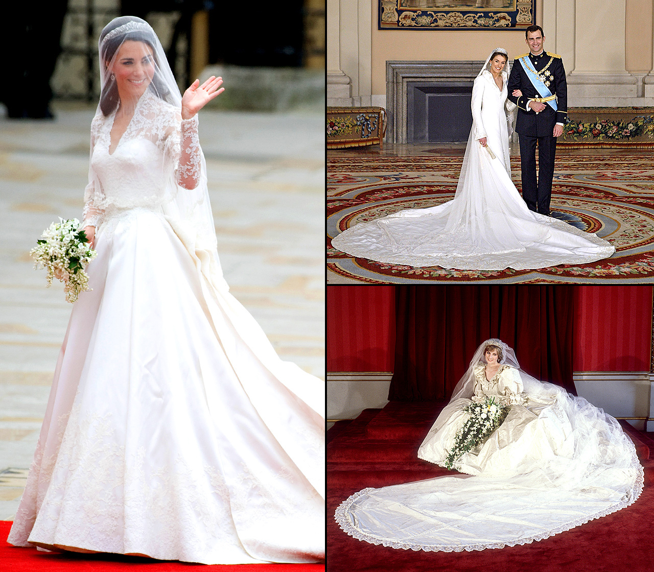 The most amazing royal wedding dresses ever us weekly most amazing royal wedding dresses ever junglespirit Image collections