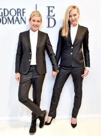 Ellen DeGeneres and Portia De Rossi at ED BY ELLEN X BERGDORF GOODMAN