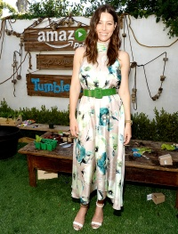 Jessica Biel at Amazon Video's Tumble Leaf Family Fun Day on Sept. 13.