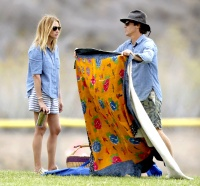 Julia Roberts and Danny Moder at a soccer game in Malibu, California.