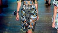 Gigi Hadid walks the runway wearing Anna Sui Spring 2016