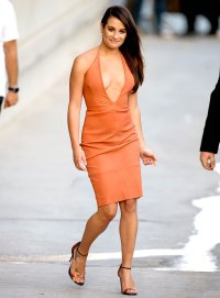 Lea Michele is seen at 'Jimmy Kimmel Live' on September 22, 2015.