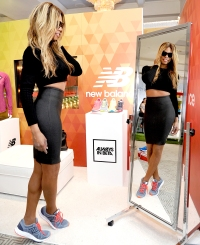 Laverne Cox tried on New Balance sneakers