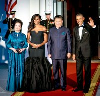 Peng Liyuan, Michelle Obama, Xi Jinping and Barack Obama