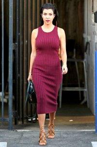 Kourtney Kardashian leaves a studio on September 28, 2015