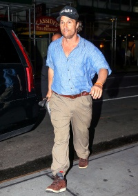 Matthew McConaughey arrives at at Bistro Milano in NYC on Sept. 30.