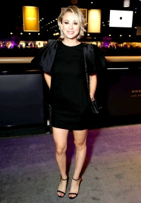 Kaley Cuoco at the Longines Masters Gala on October 1, 2015.