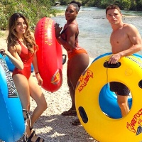 Serena Williams and Colton Haynes go tubbing together