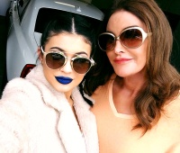Kylie Jenner and Caitlyn Jenner take a selfie on Instagram