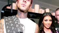 Travis Barker and Kim Kardashian