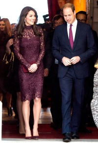 Kate Middleton and Prince William on October 21, 2015 in London.