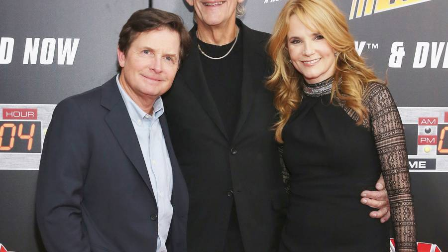 Christopher Lloyd, Lea Thompson and Michael J. Fox