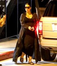 Kim Kardashian has dinner at Bandera with Kanye West and Kris Jenner