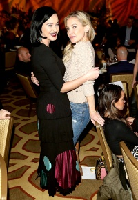 Katy Perry and Kate Hudson attend the 8th Annual GO Campaign Gala