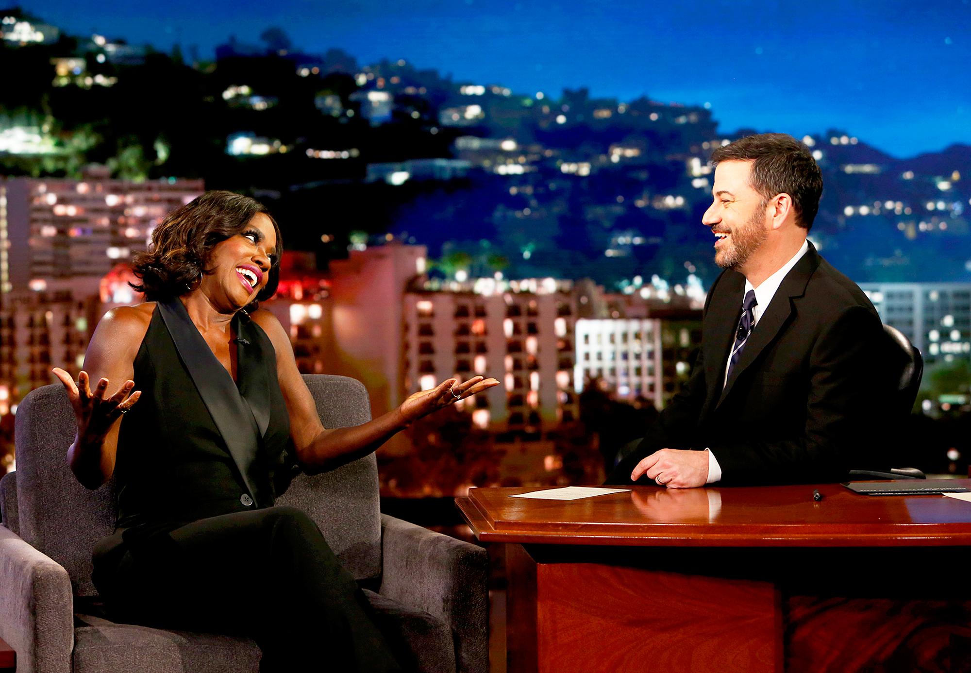 Viola Davis and Jimmy Kimmel