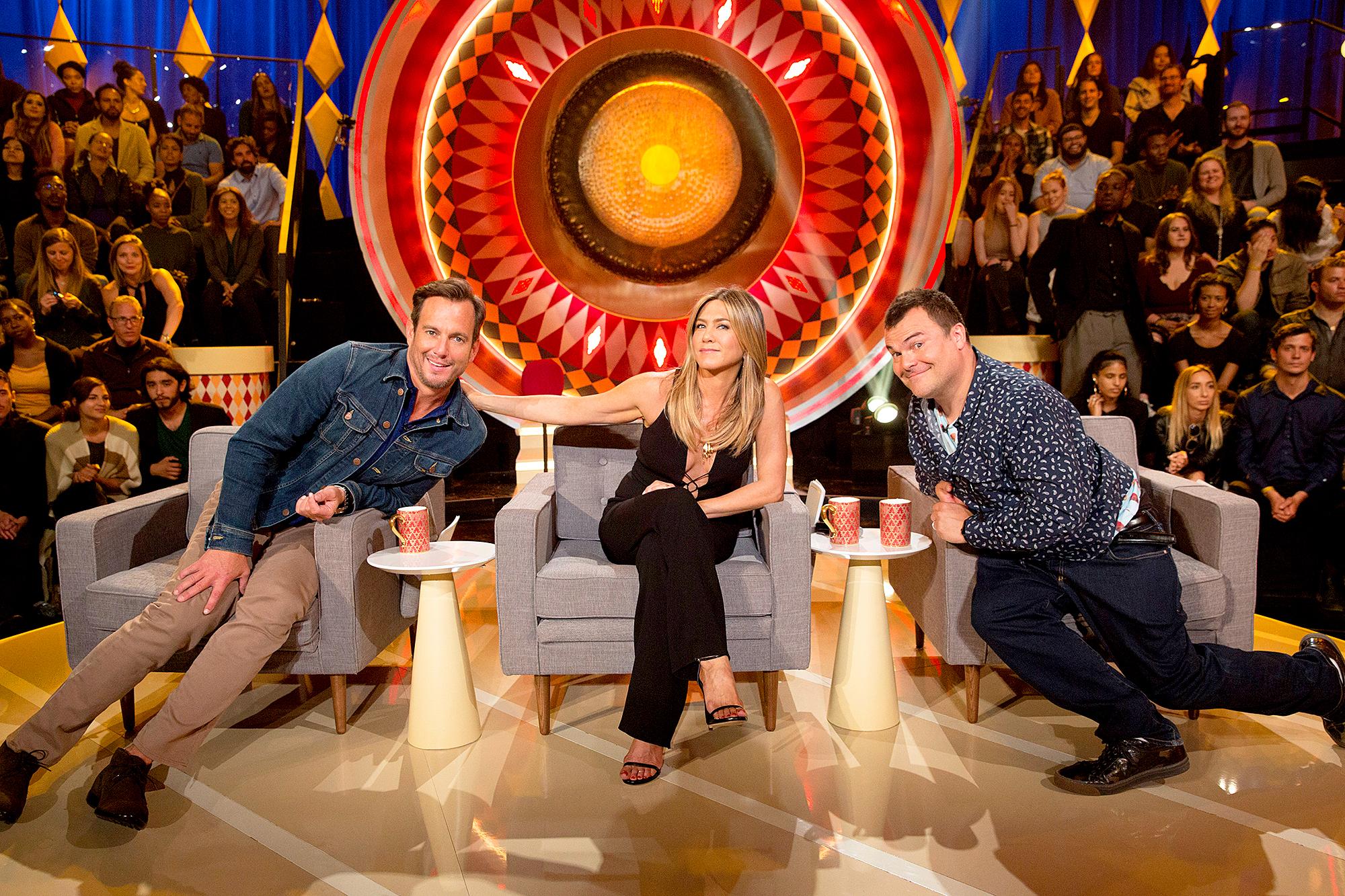 Will Arnett, Jennifer Aniston and Jack Black The Gong Show