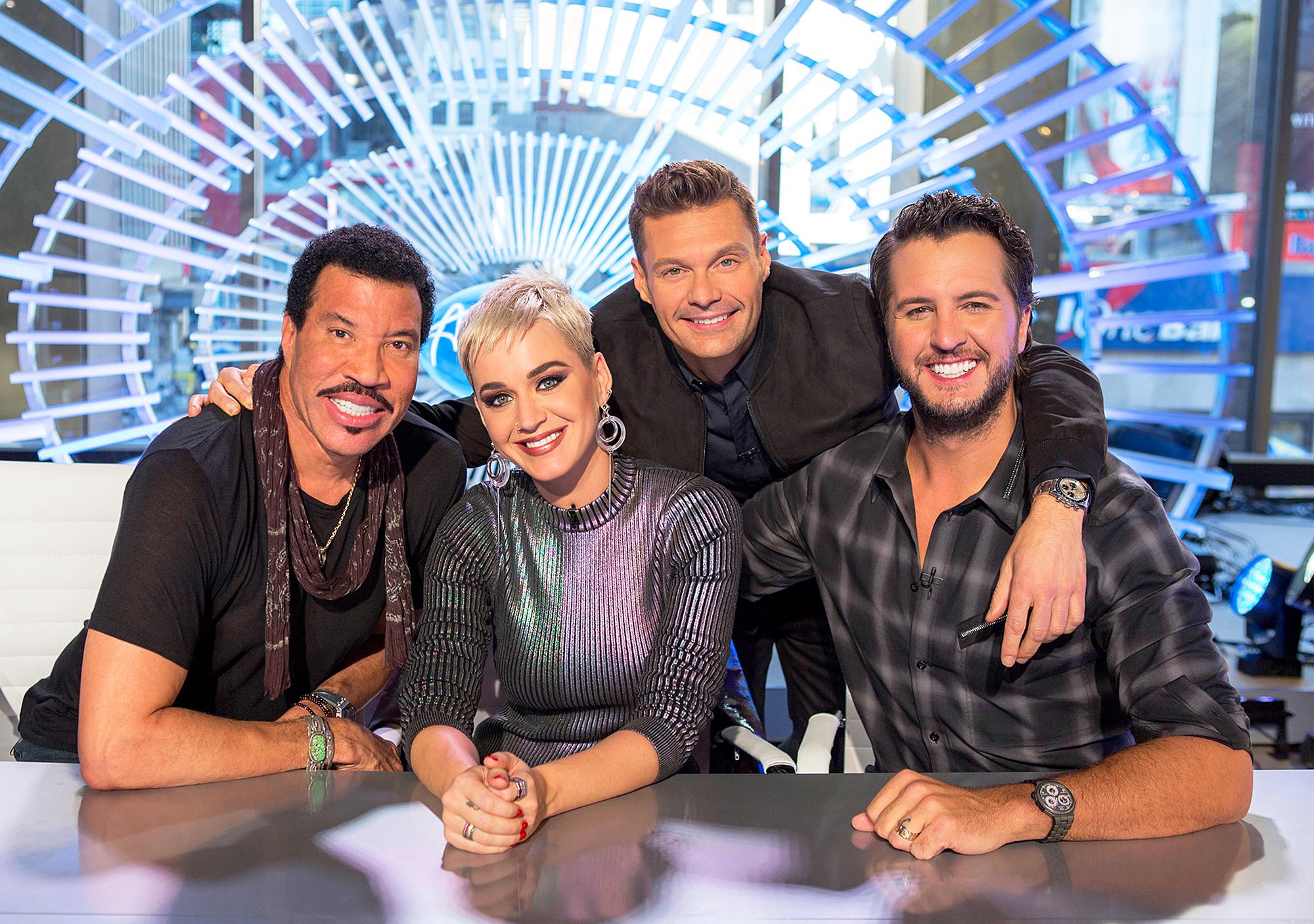 American Idol Lionel Richie Katy Perry Luke Bryan Ryan Seacrest