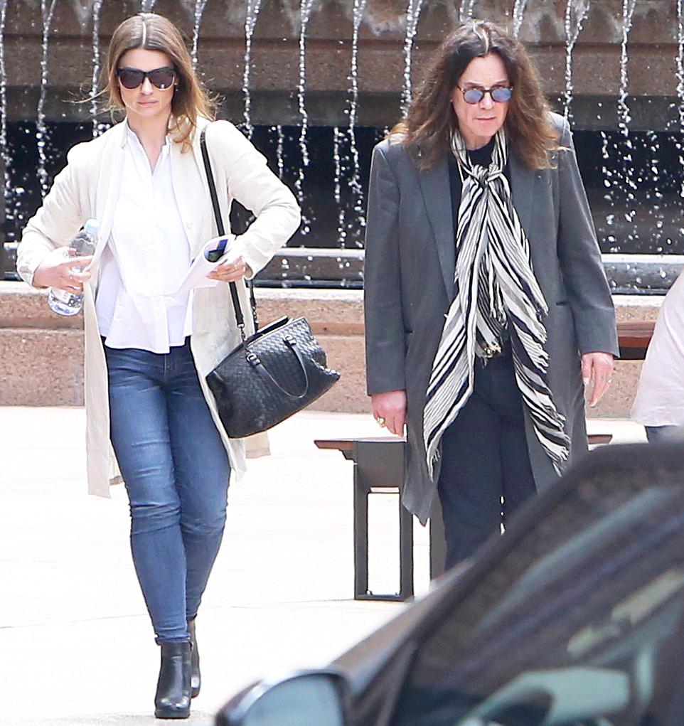 Aimee Osbourne and Ozzy Osbourne