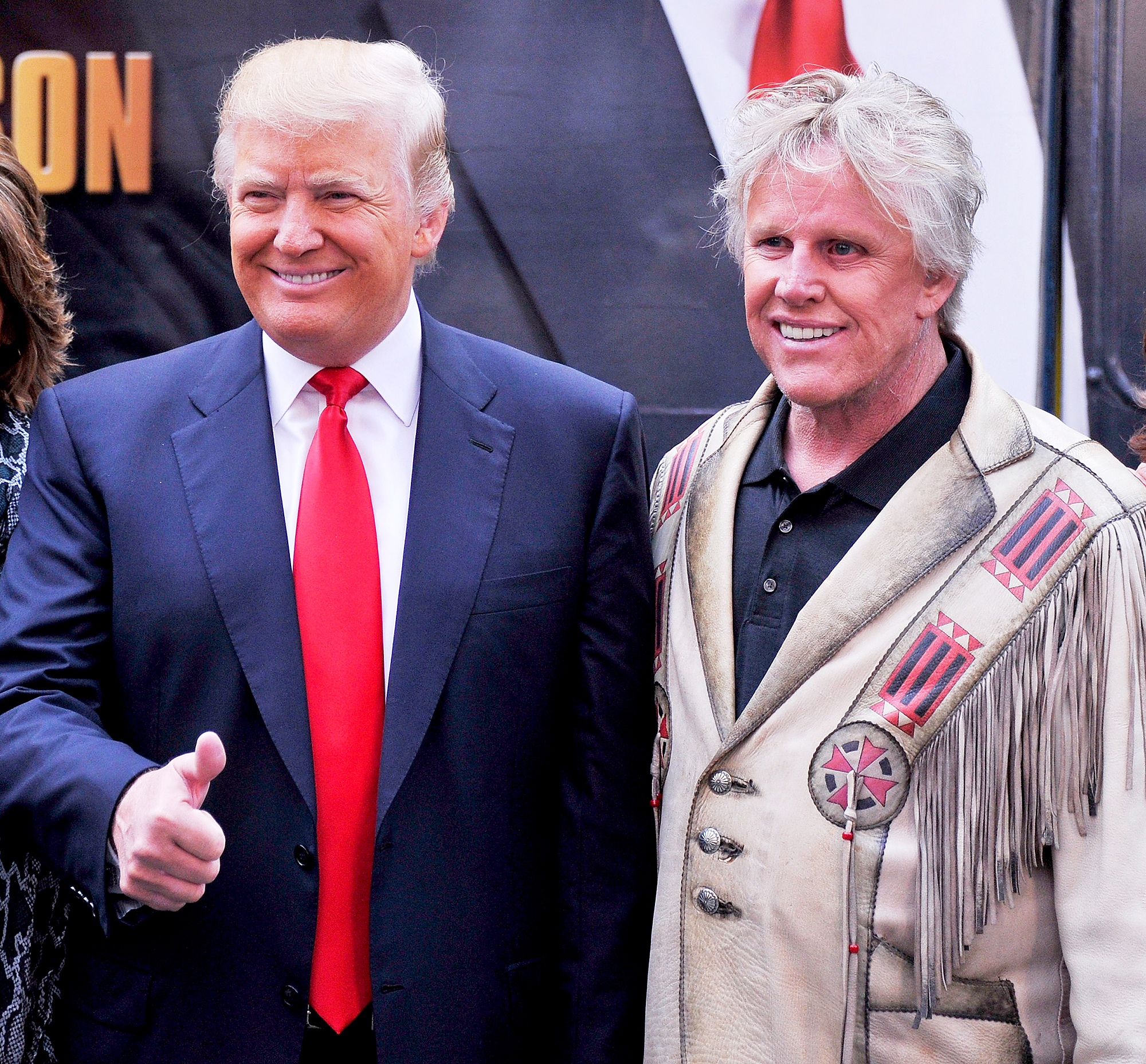 Donald Trump and Gary Busey