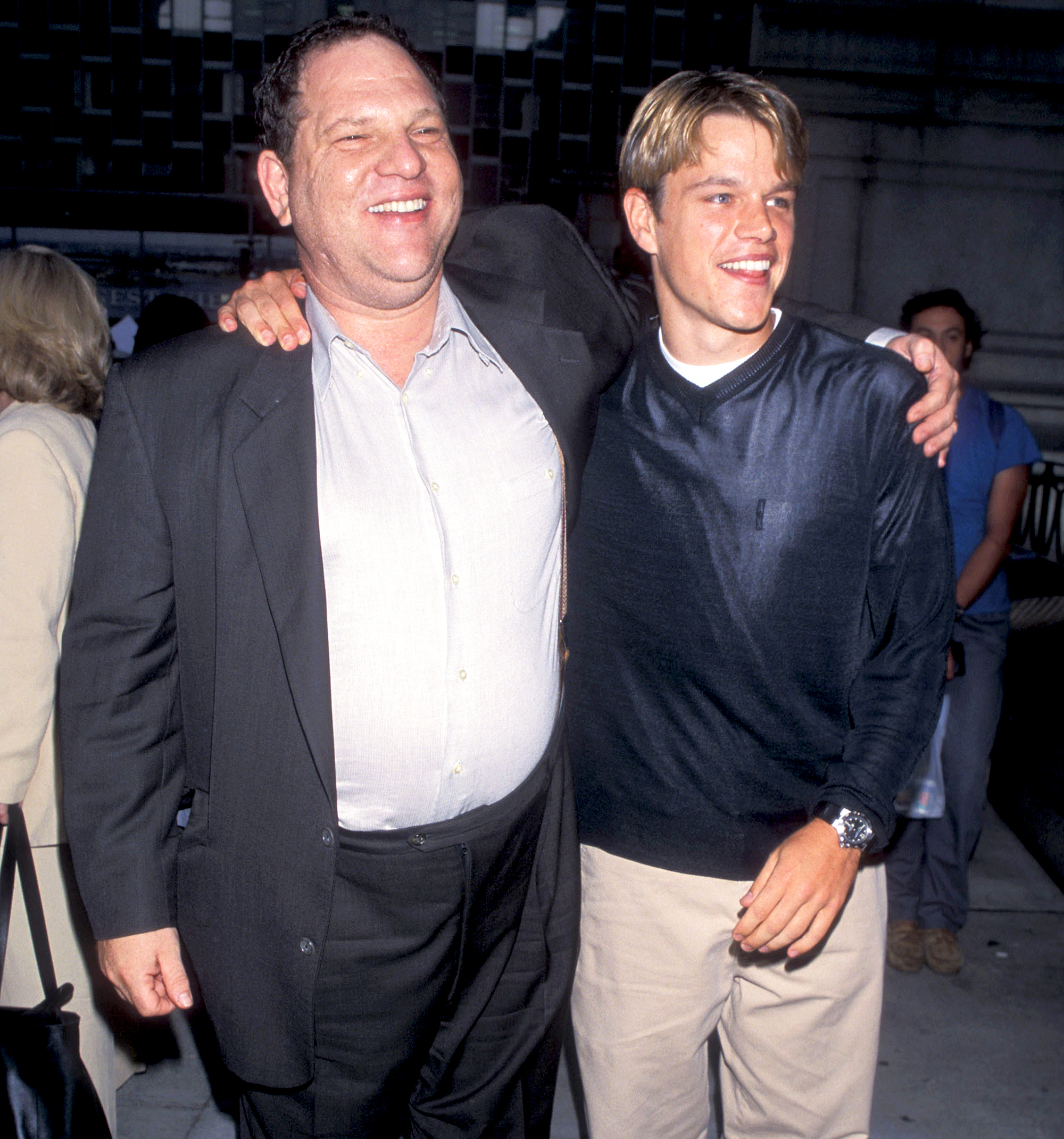 Harvey Weinstein and Matt Damon