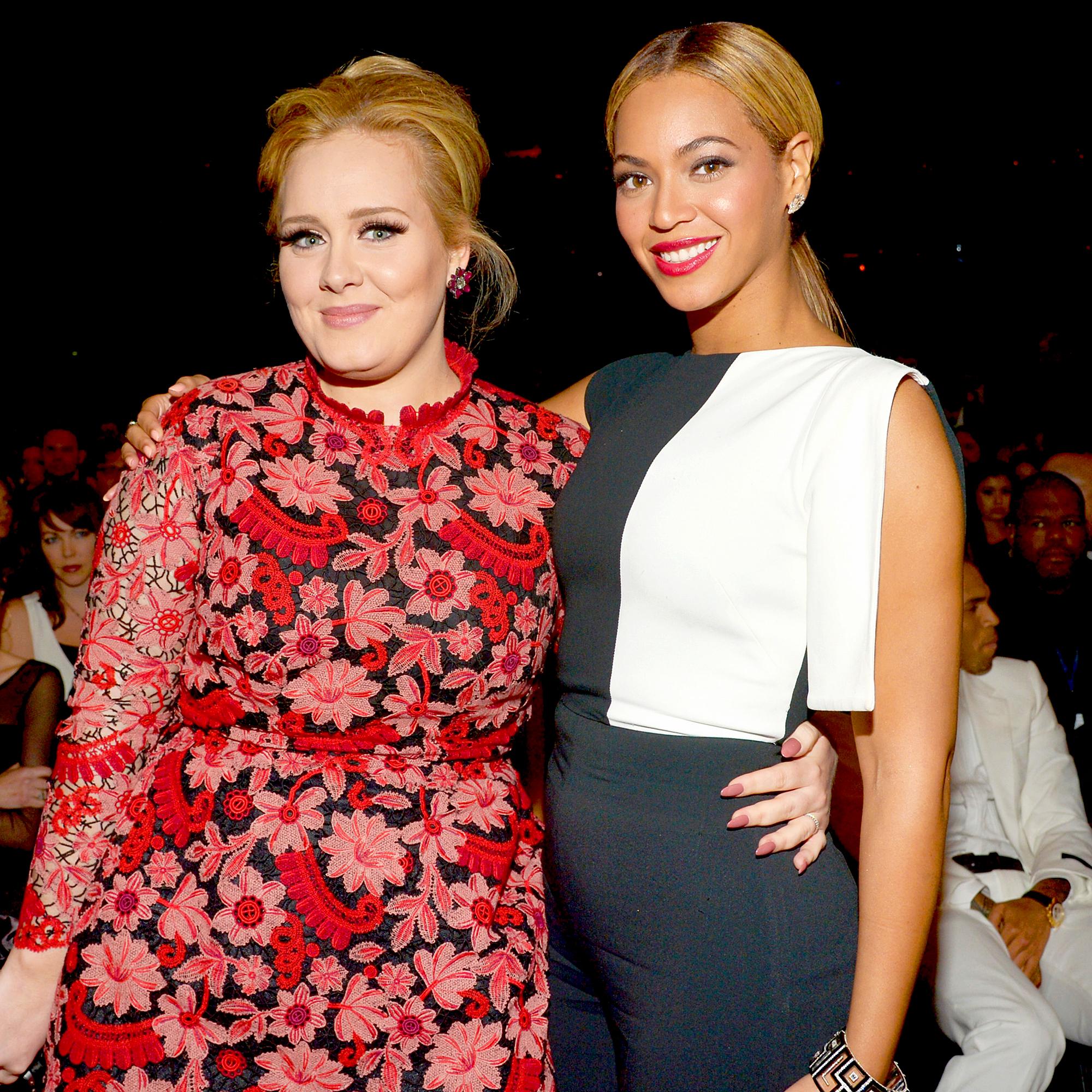 Adele menunjukjan jika ia adalah fangirl dari Beyonce nih Teens (dok. US Weekly)