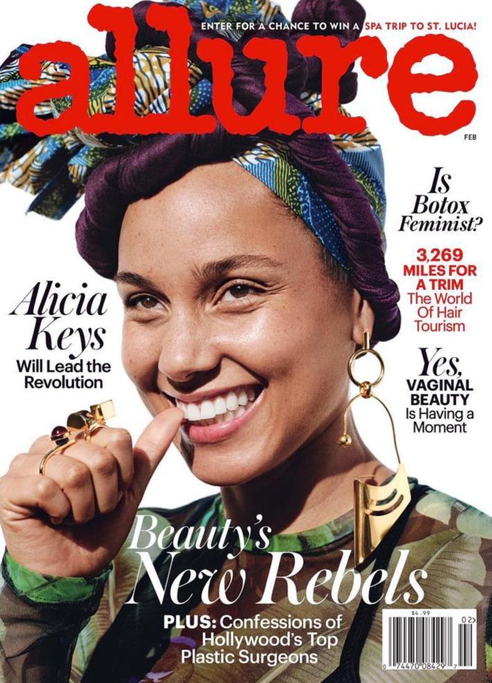 Alicia Keys Wears Eye Makeup For Allure Magazine Pics