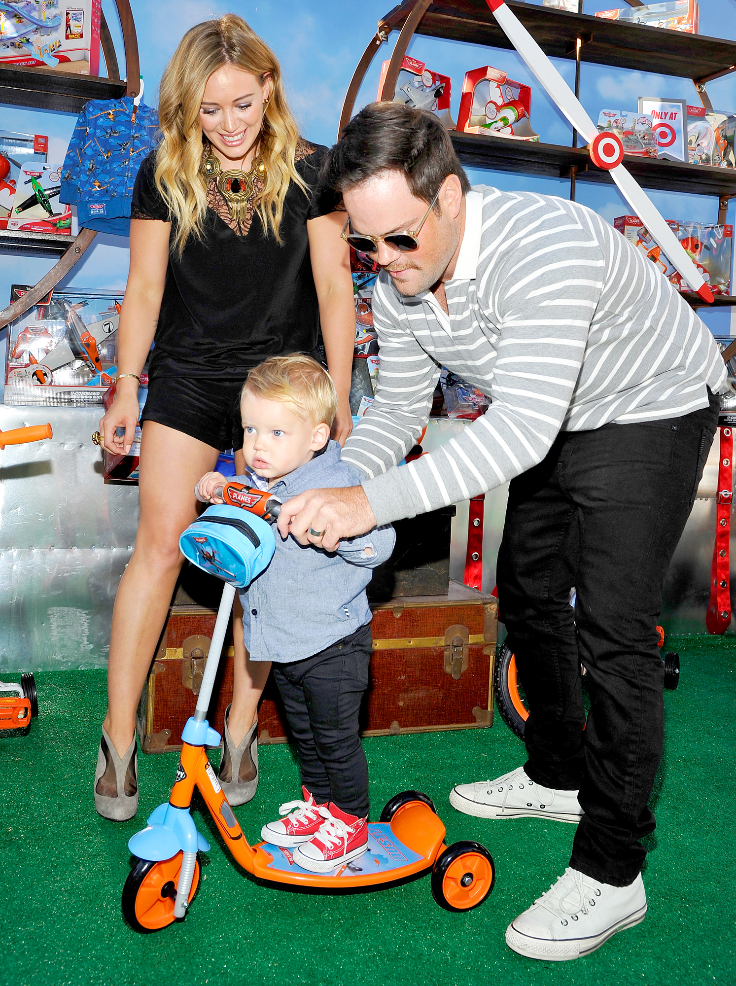 Hilary Duff, Mike Comrie and Luca