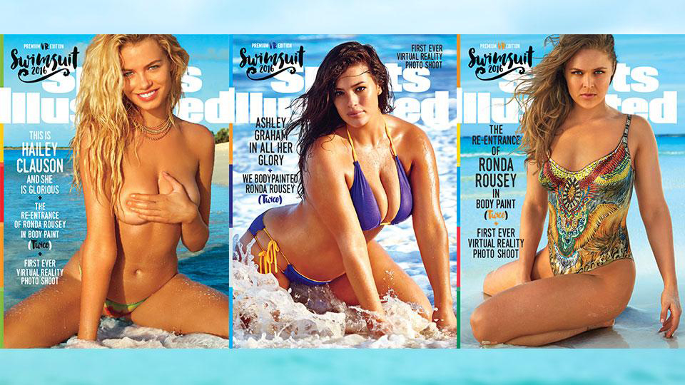 Hailey Clauson, Ashley Graham, and Ronda Rousey