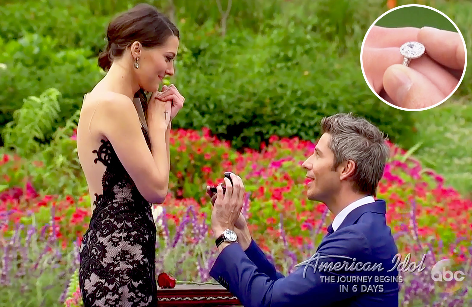 arie and lauren b ring