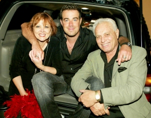 Pattie Daly Caruso, Carson Daly and Richard Caruso during MTV Bash backstage at Hollywood Palladium in Hollywood, California on June 27, 2003.