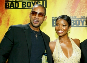 """Will Smith and Gabrielle Union attend """"Bad Boys II"""" premiere on October 2, 2003 in Munich, Germany."""