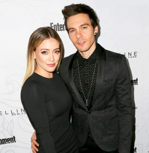 Hilary Duff and Matthew Koma arrive at the Entertainment Weekly celebration honoring nominees for The Screen Actors Guild Awards at the Chateau Marmont on January 28, 2017 in Los Angeles, California.