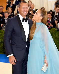 Alex Rodriguez and Jennifer Lopez attend the 'Rei Kawakubo/Comme des Garcons: Art Of The In-Between' Costume Institute Gala at Metropolitan Museum of Art on May 1, 2017 in New York City.