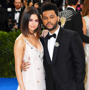 "Selena Gomez and The Weeknd attend ""Rei Kawakubo/Comme des Garcons: Art Of The In-Between"" Costume Institute Gala at Metropolitan Museum of Art on May 1, 2017 in New York City."